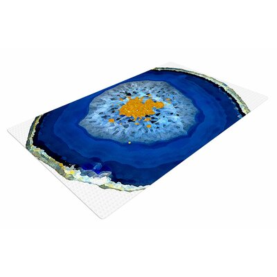 Oriana Cordero Agate Blue/Orange Area Rug