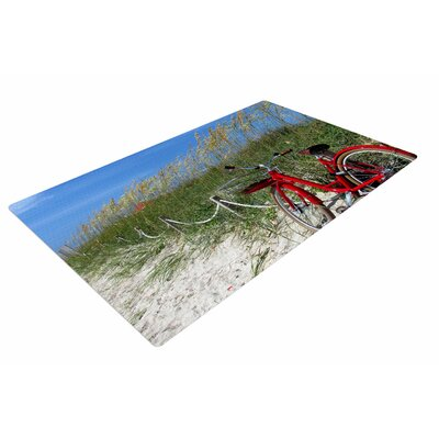 Philip Brown A Day at the Beach Black/Red Area Rug