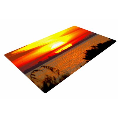 Philip Brown Sunrise on Sanibel Coral/Gold Area Rug