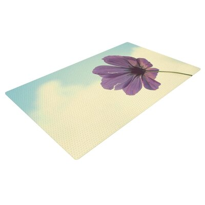 Beth Engel Torn But Never Broken Flower Purple Area Rug