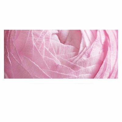 Rose 'Pink Ranunculus Flower Petals' Graphic Art Print on Metal