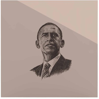 Barack Obama' Graphic Art Print on Metal EAOU7520 38971643