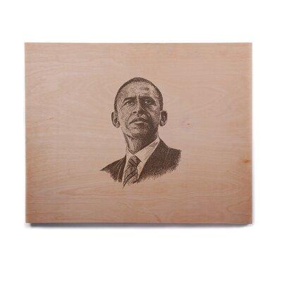 'Barack Obama' Graphic Art Print on Wood ETHM2759 39016829
