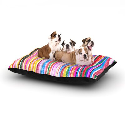 Frederic Levy-Hadida Fancy Stripes Dog Pillow with Fleece Cozy Top Size: Large (50 W x 40 D x 8 H), Color: Pastel
