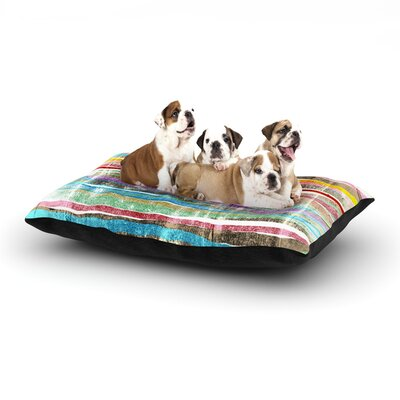 Frederic Levy-Hadida Fancy Stripes Dog Pillow with Fleece Cozy Top Size: Small (40 W x 30 D x 8 H), Color: Light