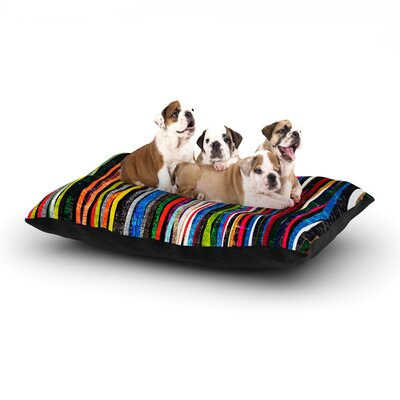 Frederic Levy-Hadida Fancy Stripes Dog Pillow with Fleece Cozy Top Size: Small (40 W x 30 D x 8 H), Color: Dark