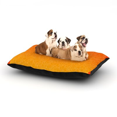 Frederic Levy-Hadida Bubbling Dog Pillow with Fleece Cozy Top Size: Small (40 W x 30 D x 8 H), Color: Red