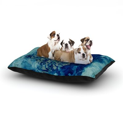 Frederic Levy-Hadida Mosaic in Cyan Dog Pillow with Fleece Cozy Top Size: Large (50 W x 40 D x 8 H)