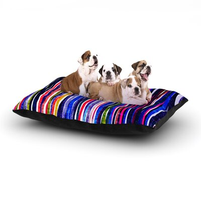 Frederic Levy-Hadida Fancy Stripes Dog Pillow with Fleece Cozy Top Size: Large (50 W x 40 D x 8 H), Color: Purple