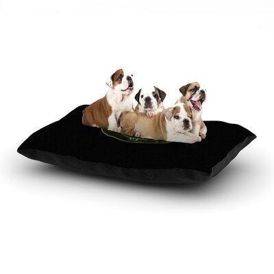 Frederic Levy-Hadida Ying Yang Dog Pillow with Fleece Cozy Top Size: Large (50 W x 40 D x 8 H)