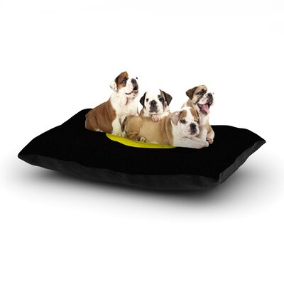 Frederic Levy-Hadida Bat Yin Dog Pillow with Fleece Cozy Top Size: Small (40 W x 30 D x 8 H)