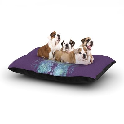 Frederic Levy-Hadida Purple Rain Dog Pillow with Fleece Cozy Top Size: Small (40 W x 30 D x 8 H)