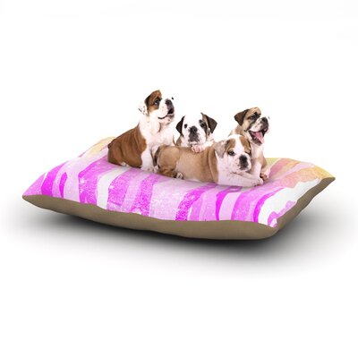 Frederic Levy-Hadida Jungle Stripes Painting Dog Pillow with Fleece Cozy Top Size: Large (50 W x 40 D x 8 H), Color: Pastel