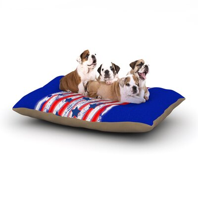 Frederic Levy-Hadida Going 4ward Dog Pillow with Fleece Cozy Top Size: Small (40 W x 30 D x 8 H)