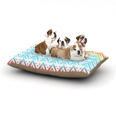 Frederic Levy-Hadida Antilops Chevron Dog Pillow with Fleece Cozy Top Size: Large (50 W x 40 D x 8 H)