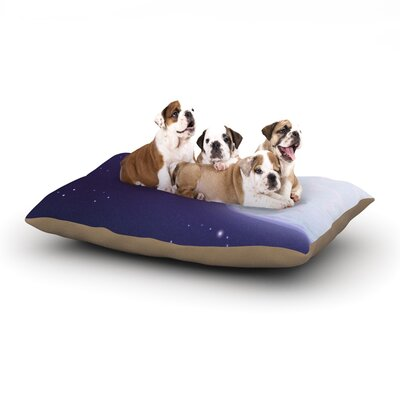 Fotios Pavlopoulos Full Moon Night Sky Dog Pillow with Fleece Cozy Top Size: Small (40 W x 30 D x 8 H)