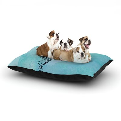 Graham Curran Shark Record III Dog Pillow with Fleece Cozy Top Size: Small (40 W x 30 D x 8 H)