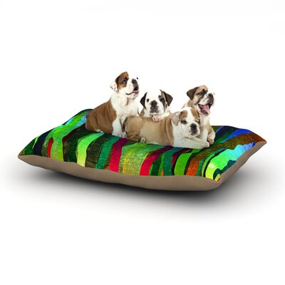 Frederic Levy-Hadida Jungle Stripes II Dog Pillow with Fleece Cozy Top Size: Large (50 W x 40 D x 8 H)