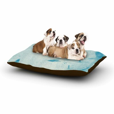 Frederic Levy-Hadida 'Them Birds' Dog Pillow with Fleece Cozy Top Color: Blue/Aqua