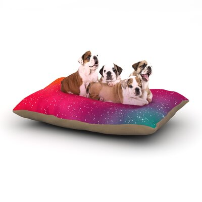 Fotios Pavlopoulos Colorful Constellation Dog Pillow with Fleece Cozy Top Size: Small (40 W x 30 D x 8 H)
