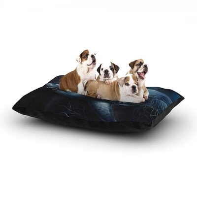 Graham Curran Invictus Dog Pillow with Fleece Cozy Top Size: Small (40 W x 30 D x 8 H)
