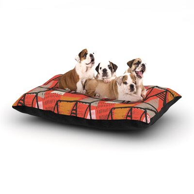 Gill Eggleston Arnaud Dog Pillow with Fleece Cozy Top Size: Small (40 W x 30 D x 8 H)