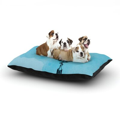 Graham Curran All Aboard Teal Dog Pillow with Fleece Cozy Top Size: Large (50 W x 40 D x 8 H)