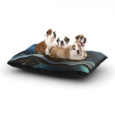 Graham Curran Savages Dog Pillow with Fleece Cozy Top Size: Small (40 W x 30 D x 8 H)