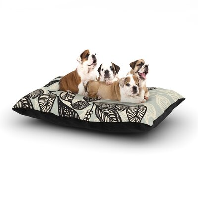 Gill Eggleston Java Leaf Dog Pillow with Fleece Cozy Top Size: Small (40 W x 30 D x 8 H)