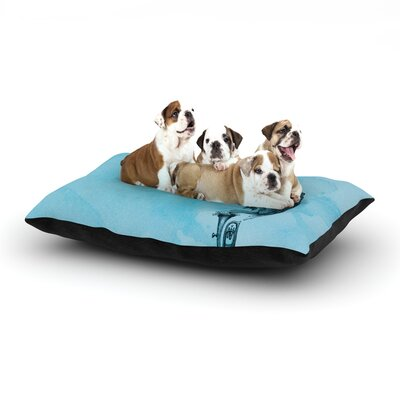 Graham Curran Turtle Tuba III Dog Pillow with Fleece Cozy Top Size: Small (40 W x 30 D x 8 H)