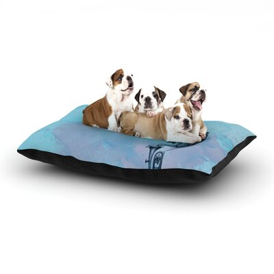 Graham Curran Turtle Tuba II Dog Pillow with Fleece Cozy Top Size: Large (50 W x 40 D x 8 H)