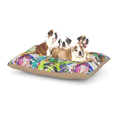 Gabriela Fuente Flow Floral Dog Pillow with Fleece Cozy Top Size: Large (50 W x 40 D x 8 H)