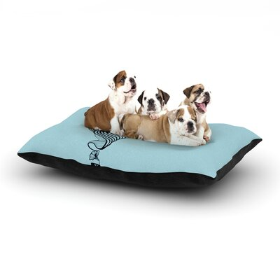 Graham Curran Shark Record Dog Pillow with Fleece Cozy Top Size: Small (40 W x 30 D x 8 H), Color: Aqua