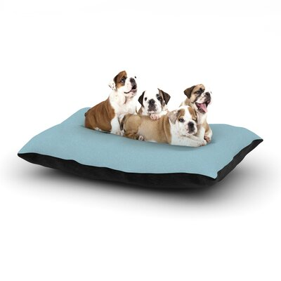 Graham Curran Hot Tub Hunter Dog Pillow with Fleece Cozy Top Size: Large (50 W x 40 D x 8 H), Color: Aqua