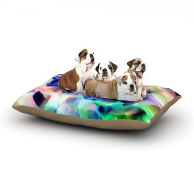 Gabriela Fuente Party Pastel Abstract Dog Pillow with Fleece Cozy Top Size: Small (40 W x 30 D x 8 H)