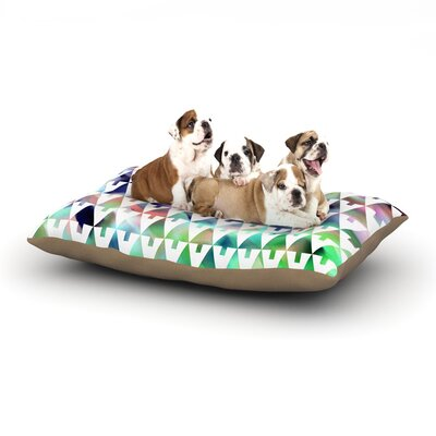 Gabriela Fuente X-Mas Party Pastel Geometric Dog Pillow with Fleece Cozy Top Size: Small (40 W x 30 D x 8 H)