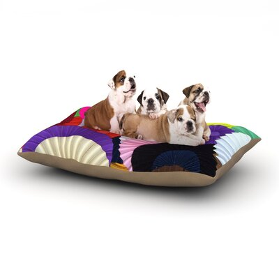 Heidi Jennings Madness Circle Dog Pillow with Fleece Cozy Top Size: Small (40 W x 30 D x 8 H)
