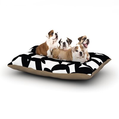 Gabriela Fuente Geo Chic Dog Pillow with Fleece Cozy Top Size: Small (40 W x 30 D x 8 H)