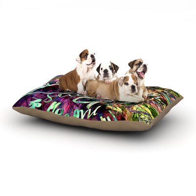 Gabriela Fuente Crazy Day Abstract Dog Pillow with Fleece Cozy Top Size: Small (40 W x 30 D x 8 H)