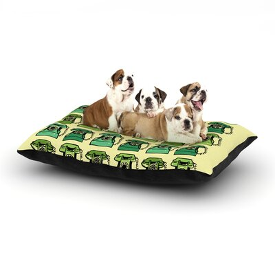 Holly Helgeson Grandmas Telephone Dog Pillow with Fleece Cozy Top Size: Large (50 W x 40 D x 8 H)