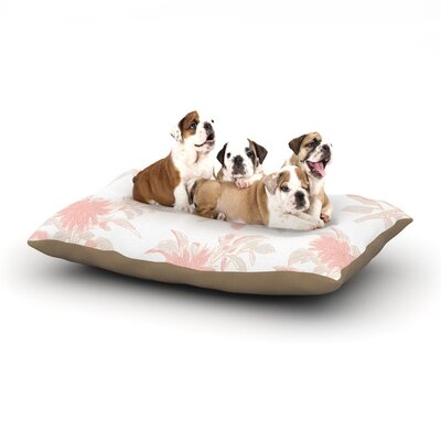 Gukuuki Pastel Fluers Dog Pillow with Fleece Cozy Top Size: Small (40 W x 30 D x 8 H)
