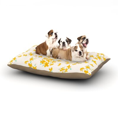 Gukuuki Kashmir Garden Dog Pillow with Fleece Cozy Top Size: Small (40 W x 30 D x 8 H)