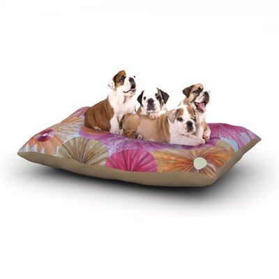 Heidi Jennings 'Blossoming' Dog Pillow with Fleece Cozy Top Size: Small (40