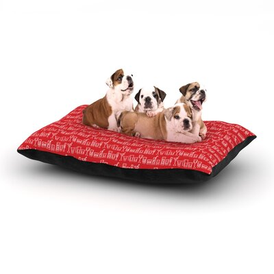 Holly Helgeson Glass Half-Full Dog Pillow with Fleece Cozy Top Size: Small (40 W x 30 D x 8 H)