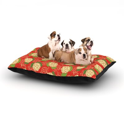 Holly Helgeson Cammelia Dog Pillow with Fleece Cozy Top Size: Small (40 W x 30 D x 8 H)