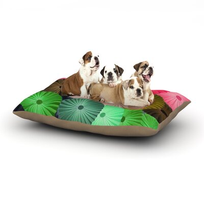 Heidi Jennings Parasol Paper Circle Dog Pillow with Fleece Cozy Top Size: Small (40 W x 30 D x 8 H)