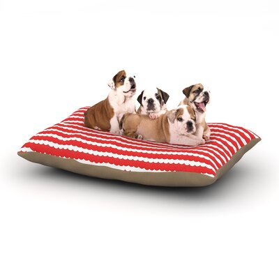 Heidi Jennnings Feeling Festive Dog Pillow with Fleece Cozy Top Size: Large (50 W x 40 D x 8 H)