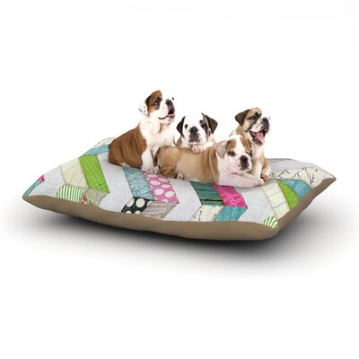 Heidi Jennings Fabric Much? Cloth Dog Pillow with Fleece Cozy Top Size: Large (50 W x 40 D x 8 H)