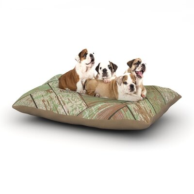 Heidi Jennings Patina Wood Dog Pillow with Fleece Cozy Top Size: Small (40 W x 30 D x 8 H)