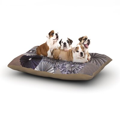 Heidi Jennings Shadows Dark Circles Dog Pillow with Fleece Cozy Top Size: Small (40 W x 30 D x 8 H)